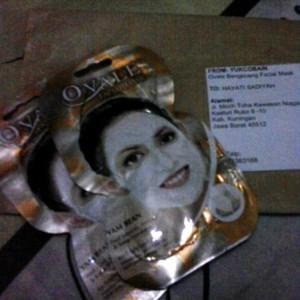 gambar review ke-1 untuk Ovale Bengkoang Facial Mask